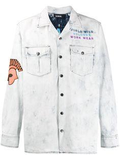 U.P.W.W. джинсовая рубашка с вышивкой