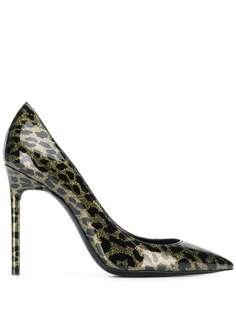 Saint Laurent туфли-лодочки Anja с леопардовым принтом