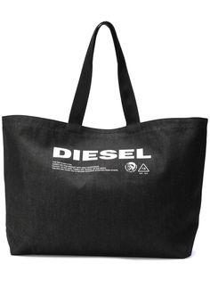 Diesel джинсовая сумка с принтом