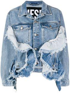 Diesel джинсовая куртка De-Abby с оборками