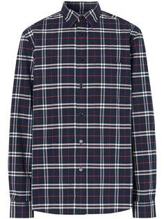 Burberry checked slim-fit shirt