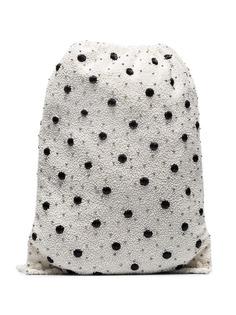 Ganni сумка в горох с отделкой пайетками Wintour