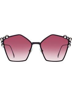 Fendi солнцезащитные очки с аппликацией