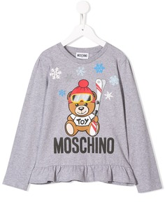Moschino Kids топ Winter Bear с оборками