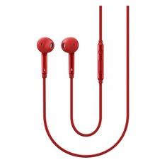 Наушники с микрофоном SAMSUNG EO-EG920L, 3.5 мм, вкладыши, красный [eo-eg920lregru]
