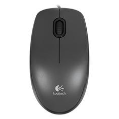 Мышь LOGITECH M100, оптическая, проводная, USB, черный и темно-серый [910-005003]
