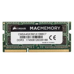 Модуль памяти CORSAIR CMSA4GX3M1A1066C7 DDR3 - 4Гб 1066, SO-DIMM, Ret