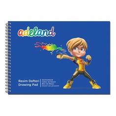 Альбом для рисования Adel ADELAND 434-5502-500 15л. 350x250мм 2диз. спираль 12 шт./кор. Адель