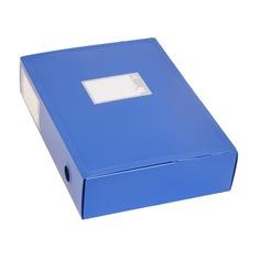 Короб архивный вырубная застежка Бюрократ -BA100/08BLUE пластик 0.8мм корешок 100мм 330х245мм синий 30 шт./кор.
