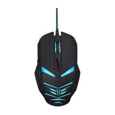 Мышь OKLICK 745G LEGACY, игровая, оптическая, проводная, USB, черный и голубой [mw-1301]