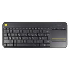 Клавиатура LOGITECH K400 Plus, USB, Радиоканал, черный [920-007147]