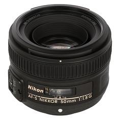 Объектив NIKON 50mm f/1.8 AF-S, Nikon F [jaa015da]