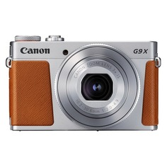 Цифровой фотоаппарат CANON PowerShot G9 X Mark II, серебристый/ коричневый