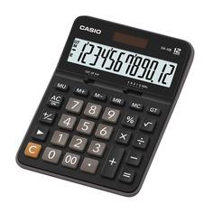 Калькулятор CASIO DX-12B, 12-разрядный, черный