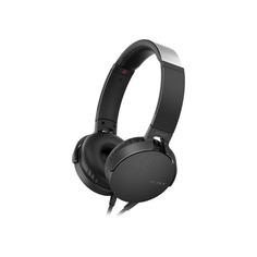 Наушники с микрофоном SONY MDR-XB550AP, 3.5 мм, накладные, черный [mdrxb550apb.e]