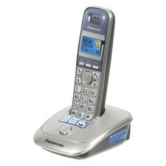 Радиотелефон PANASONIC KX-TG2511RUS, серебристый и голубой
