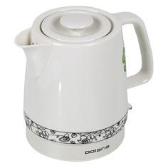 Чайник электрический POLARIS PWK 1731CC, 2200Вт, белый и рисунок