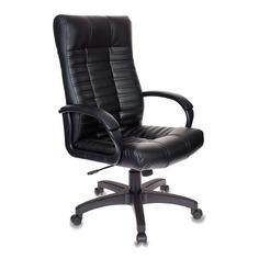 Кресло руководителя БЮРОКРАТ KB-10, на колесиках, искусственная кожа, черный [kb-10/black]