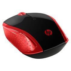 Мышь HP 200 Emprs, оптическая, беспроводная, USB, красный [2hu82aa]