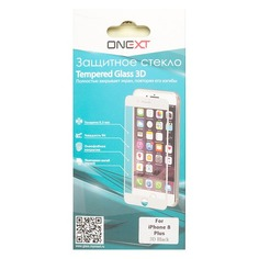 Защитное стекло для экрана ONEXT 3D для Apple iPhone 8 Plus, 1 шт, черный [41380]
