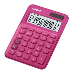 Калькулятор CASIO MS-20UC-RD-S-EC, 12-разрядный, красный