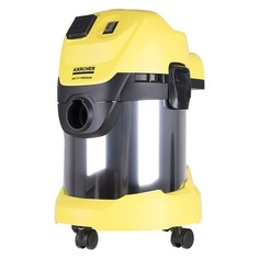Пылесос KARCHER WD3 P Premium EU-I, 1000Вт, желтый/черный