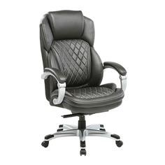 Кресло руководителя БЮРОКРАТ T-9915, на колесиках, рециклированная кожа/кожзам, черный [t-9915/black]