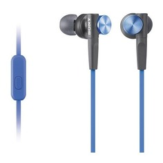 Наушники с микрофоном SONY MDR-XB50AP, 3.5 мм, вкладыши, синий [mdrxb50apl.ce7]