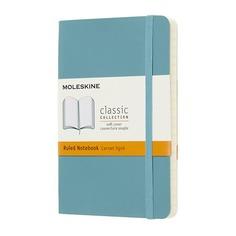 Блокнот Moleskine CLASSIC SOFT Pocket 90x140мм 192стр. линейка мягкая обложка голубой 9 шт./кор.
