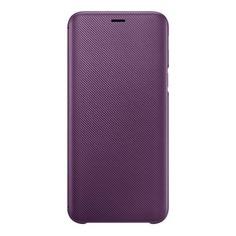 Чехол (флип-кейс) SAMSUNG Wallet Cover, для Samsung Galaxy J6 (2018), пурпурный [ef-wj600ceegru]