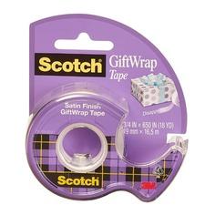 Клейкая лента канцелярская 3M Scotch Satin 7100093925 шир.19мм дл.7.5м полуматовая на мини-диспенсер 12 шт./кор.