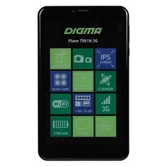 Планшет DIGMA Plane 7561N 3G, 1GB, 16GB, 3G, Android 7.0 черный [ps7176mg]