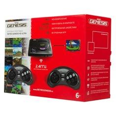 Игровая консоль RETRO GENESIS HD Ultra 50 игр, два беспроводных джойстика, черный