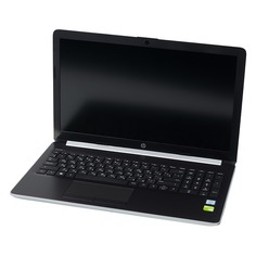 """Ноутбук HP 15-da0195ur, 15.6"""", Intel Core i3 7020U 2.3ГГц, 4Гб, 16Гб Intel Optane, 1000Гб, nVidia GeForce Mx110 - 2048 Мб, Windows 10, 4AZ41EA, серебристый"""