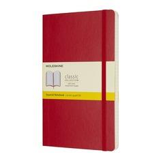 Блокнот Moleskine CLASSIC SOFT Large 130х210мм 192стр. клетка мягкая обложка красный 8 шт./кор.