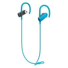 Наушники с микрофоном AUDIO-TECHNICA ATH-SPORT50BT, Bluetooth, вкладыши, бирюзовый [15119960]