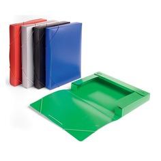 Папка-короб на резинке Бюрократ -BA40/07RED пластик 0.7мм корешок 40мм A4 красный 25 шт./кор.