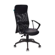 Кресло руководителя БЮРОКРАТ СН-600AXSN, на колесиках, искусственная кожа, черный [ch-600axsn/or-16]
