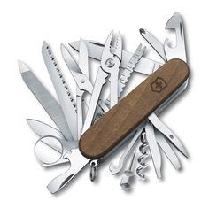 Складной нож VICTORINOX SwissChamp Wood, 29 функций, 91мм, дерево