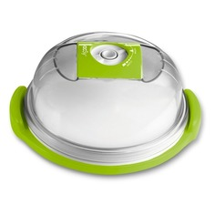 Контейнер Zepter VacSy VS-015-19 для тортов кругл. 1.6л. стекло зеленый