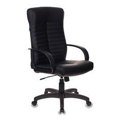 Кресло руководителя БЮРОКРАТ KB-10, на колесиках, искусственная кожа, черный [kb-10lite/black]