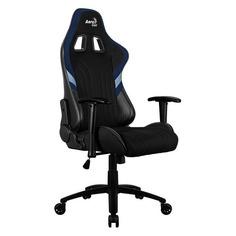 Кресло игровое AEROCOOL AERO 1 Alpha Black Blue, на колесиках, ткань дышащая, черный/синий [acgc-2017101.b1]
