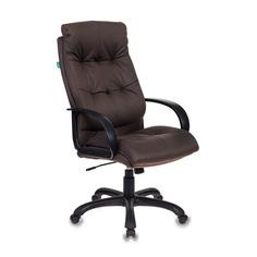 Кресло руководителя БЮРОКРАТ CH-824, на колесиках, искусственный нубук, темно-серый [ch-824b/f4]