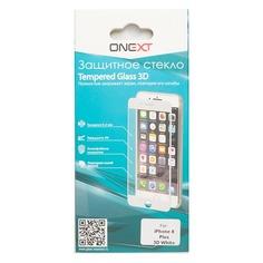 Защитное стекло для экрана ONEXT 3D для Apple iPhone 8 Plus, 1 шт, белый [41390]