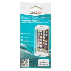 Защитное стекло для экрана ONEXT 3D для Apple iPhone 8, 1 шт, прозрачный [41392]