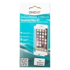 Защитное стекло для экрана ONEXT 3D для Apple iPhone 8, 1 шт, черный [41379]