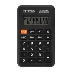 Калькулятор CITIZEN LC-310NR, 8-разрядный, черный