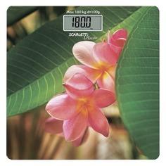 Напольные весы SCARLETT SC-BS33E040, до 180кг, цвет: рисунок/SPA цветок [sc - bs33e040]