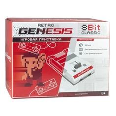 Игровая консоль RETRO GENESIS 300 игр, белый/красный