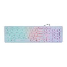 Клавиатура OKLICK 420MRL, USB, белый
